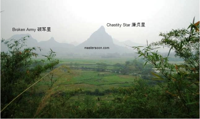 Chastity Star Mountain  Fire Shape. I took this picture in April, Southern China.