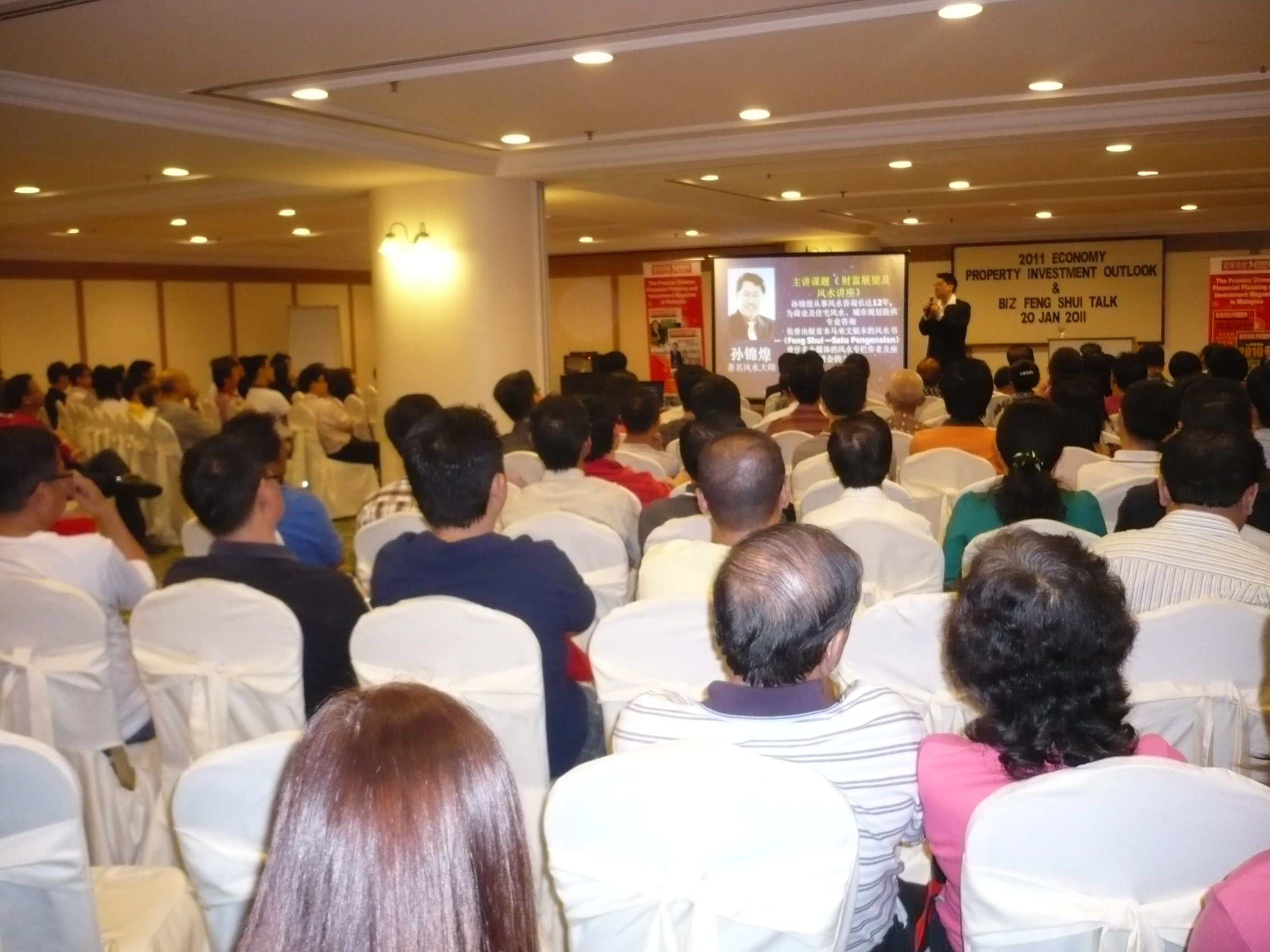 Master Soon Deliver His Feng Shui Speech At Sunway Hotel on 20 January 2011.