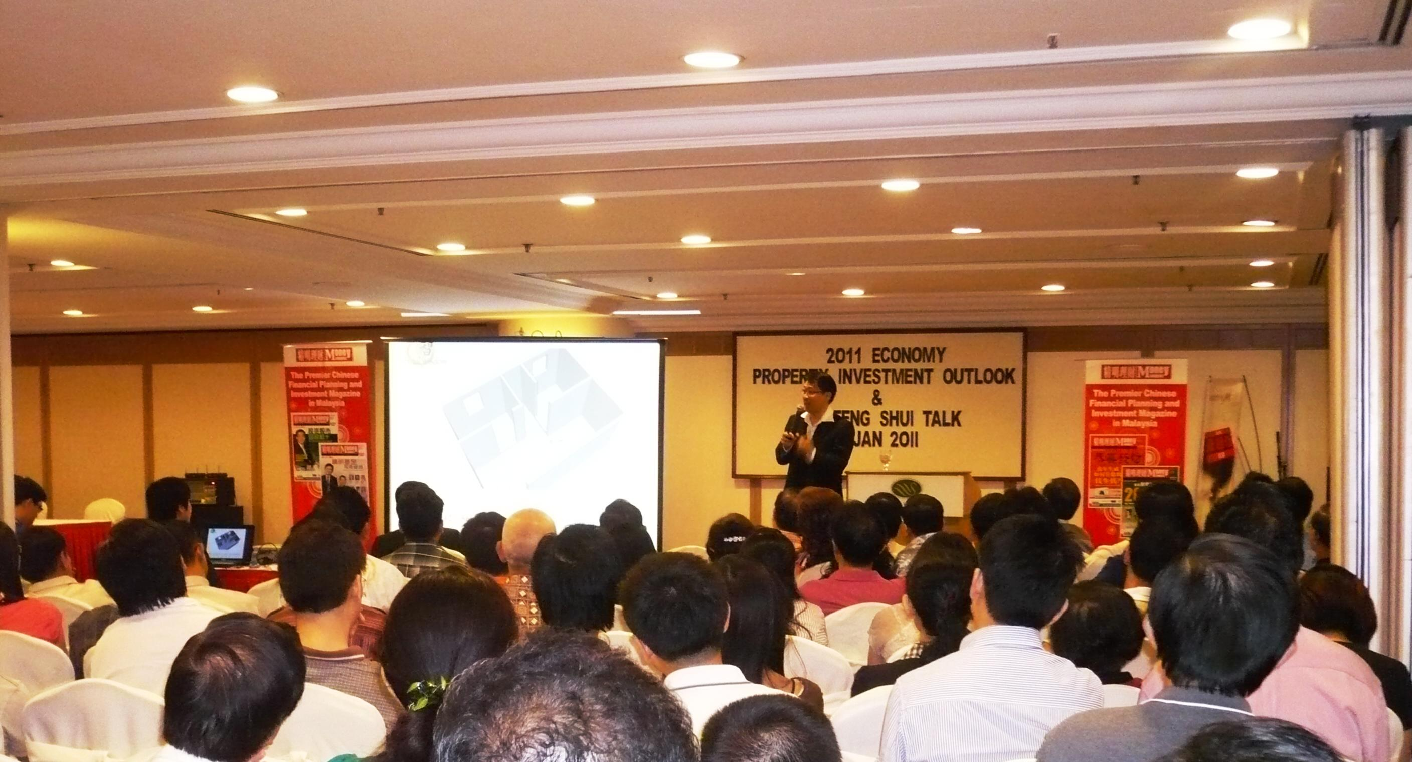 Master Soon at Sunway Hotel for Feng Shui Talk 2011. Sponsored by Red Tone and Organized By Money Compass