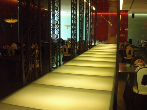 This is part of the restaurant interior design.... Visual pleasure while having nice food....