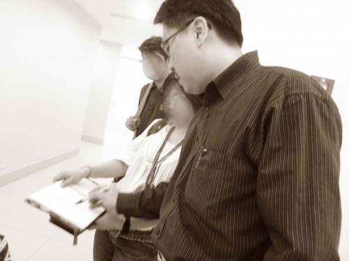 Master Soon Was Giving Feng Shui Ideas About How to Improve The Property With Two Well Known Interior Designers in Subang, Malaysia 2011.