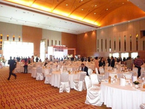 Officers of Maybank Were Busy to Escort The Honorable Guests to Their Respective Dining Table into The Ballroom of KLCC