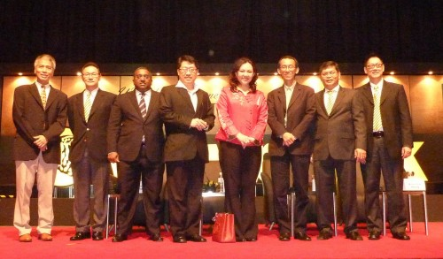 Maybank Property Talk 2011. The Lady in Red is Teh Cheah May, Excutive Vice President Financial Services of Maybank