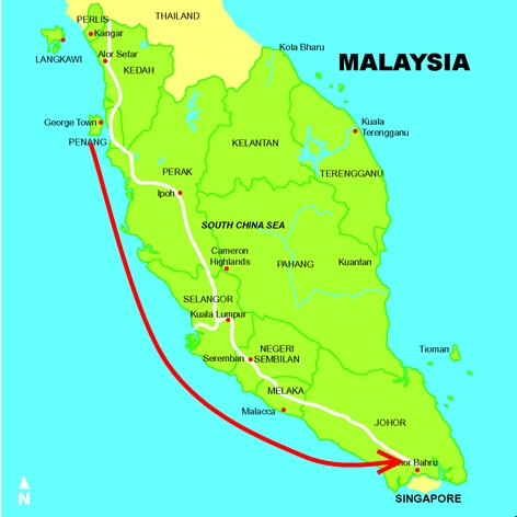 Master Soon Flied From Penang to Johor Bahru at The Southern Part of West  Malaysia
