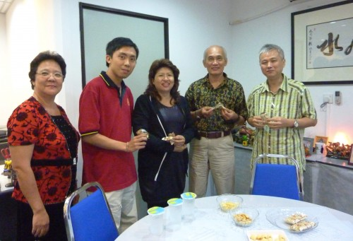 Some of the Students At Tea Break During Yijing Course on 02 April 2011
