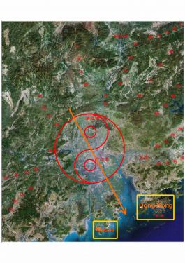 The Qi is running towards South East. What does this mean? Which Period Circle is Auspicious? Why Guangzhou was under attacked by Western Domination During 19th century from Feng Shui point of view? If you could answer this, then, only proven that your theories are reliable.....