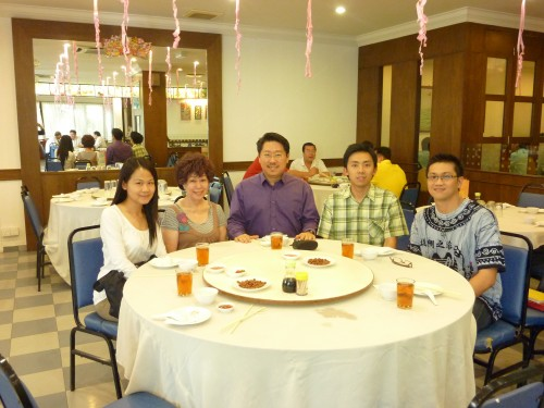 Feng Shui Module Two on 12 & 13 June 2011 (during lunch time) Rachel, Esther, Master Soon, Bryan and Wooi Loon