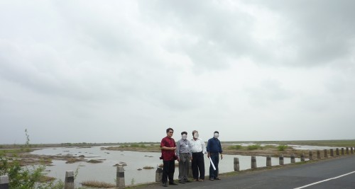 Water Mouth of the huge project....Feng Shui Site Survey with the Town Planner and Project Manager in India (2011)