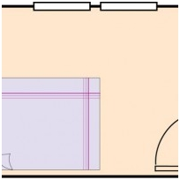 1 – Bed with leg pointing to the door cause sexual abuse