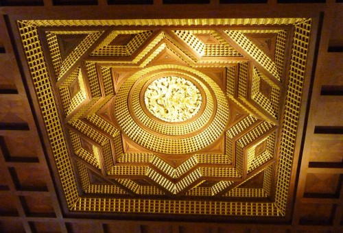 This is a ceiling built-in Chinese White Magic in a well-known building in China. Combination of Hetu and Bagua. It also similiar to Indian's Yantra.
