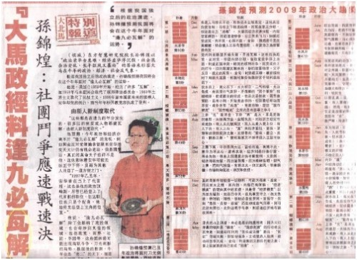 Accurate Prediction from Master Soon in Kwong Wah Jit Poh & Sin Chew Jit Poh
