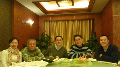 Master Soon with Business Bosses for Business Dinner, Feb 2012. They are successful businessmen in their respective industries.