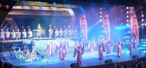 The Peak of the show to educate the mass how GREAT was China before 15th century. The implicit meaning was to brain wash the audiences that China is able to do that in 21 century