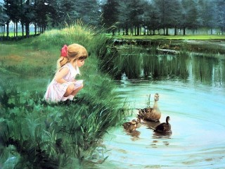 painting_children_kjb_DonaldZolan_76MorningDiscovery_sm