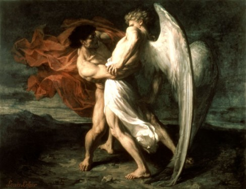 Jacob Fighting with Angel, Messenger of Divine. If Jacob Dared to Fight the Angel, Why Not you?