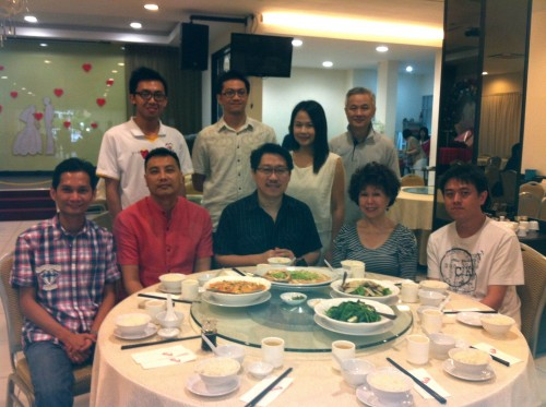 Memorable Lunch with 2012 Batch of Student for Water Dragon