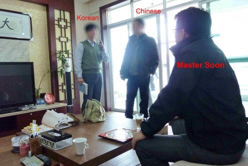 Korean Businessman is Taking Feng Shui Advices from Master Soon in China  Dec 2012
