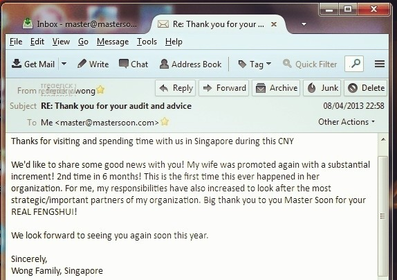 Testimonial from Singapore, Mr. Wong on 08 Apr 2013