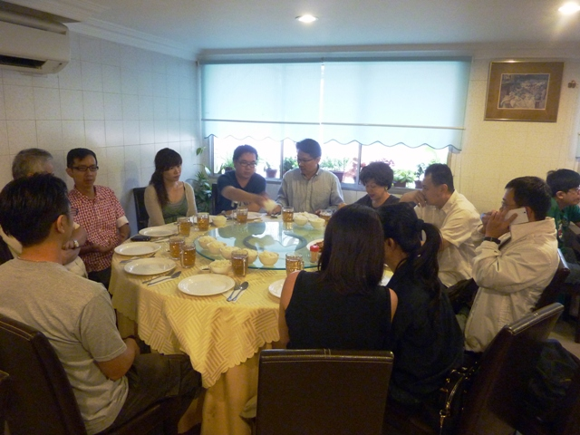 Exchanging Greetings & Information After month- long break... We enjoy our gathering on 18 May 2013