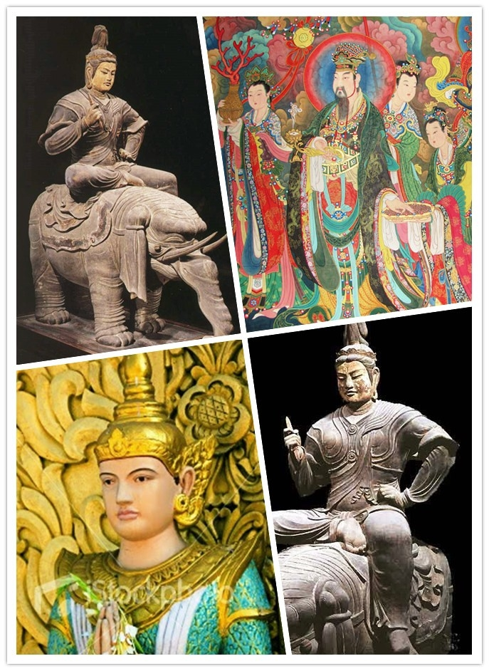 不中文化国家展现之帝释天之相 Different Culture has different form of Sakra Deva
