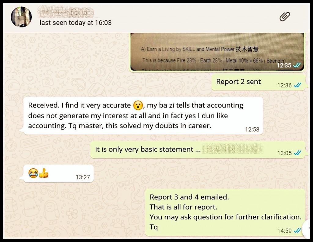 Testimonial for BaZi 4