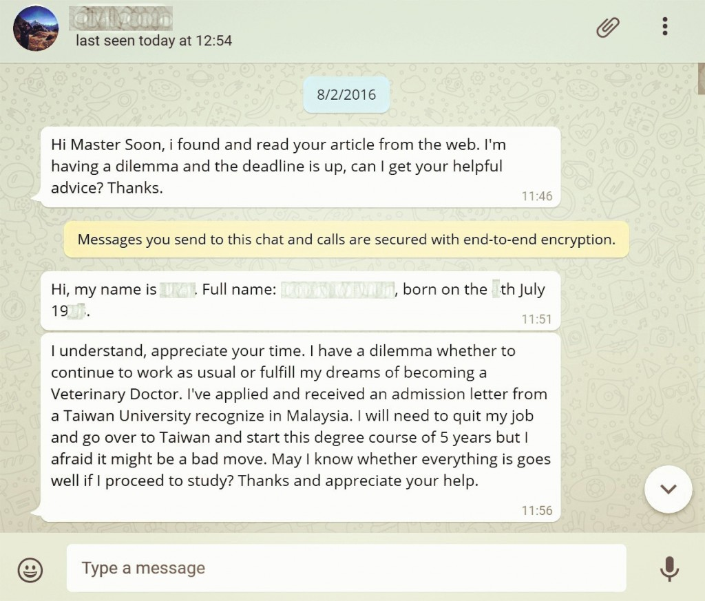 Master Soon Email Consultation