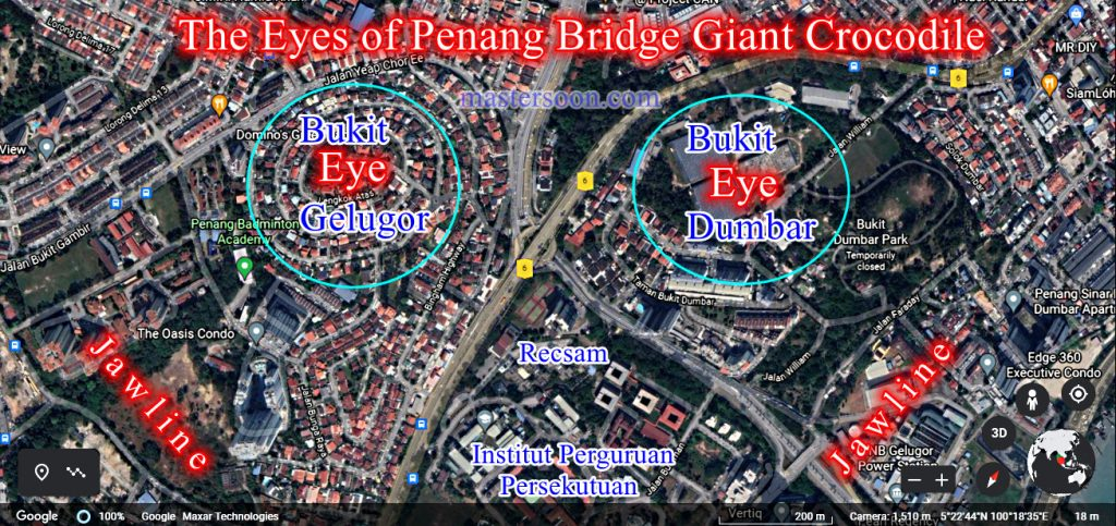 Malaysia Penang Bridge Crocodile Feng Shui
